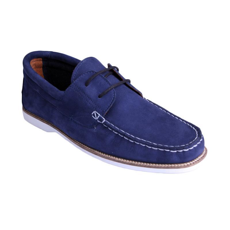 Ftale Footwear Moccasino Mens Shoes - Nubuck Blue