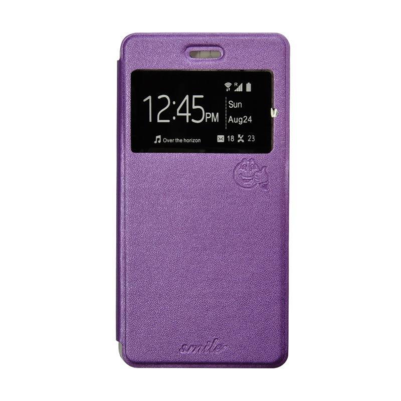 SMILE Flip Cover Casing for Samsung Galaxy Grand 2 - Ungu