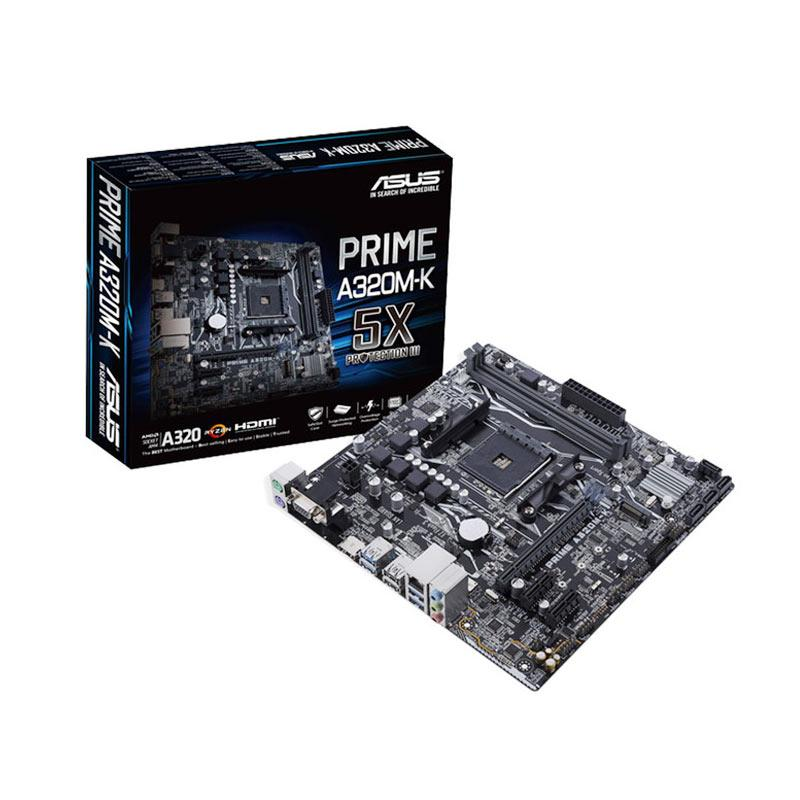 Asus Prime A320M-K  Motherboard [AM4/AMD Promontory A320/DDR4/USB3.1/SATA3]