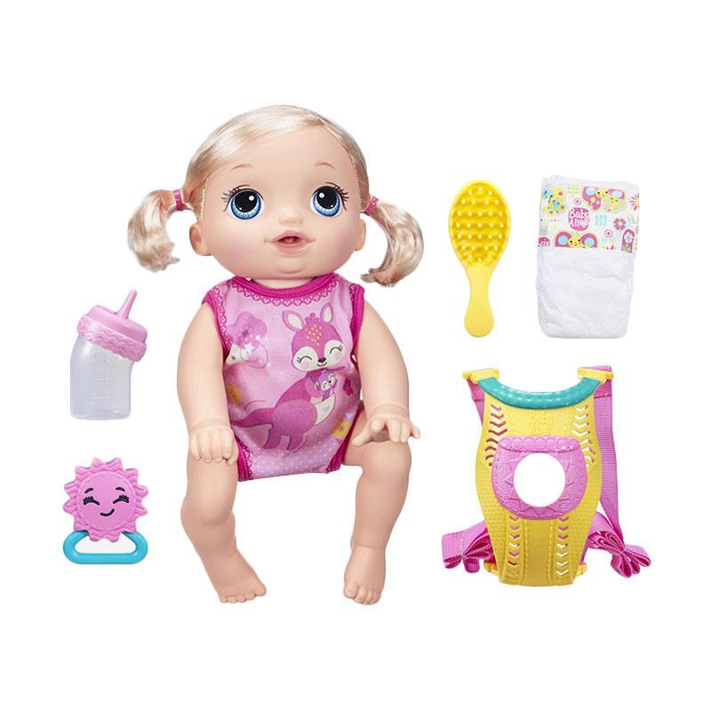 harga Baby Alive B6048 Baby Go Bye-Bye Blonde Doll Mainan Anak Blibli.com