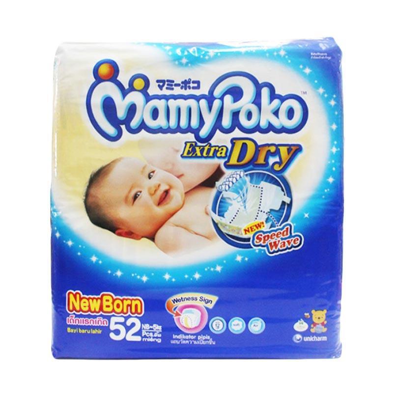 Mamypoko Extra Dry Popok Sekali Pakai [Newborn/52]