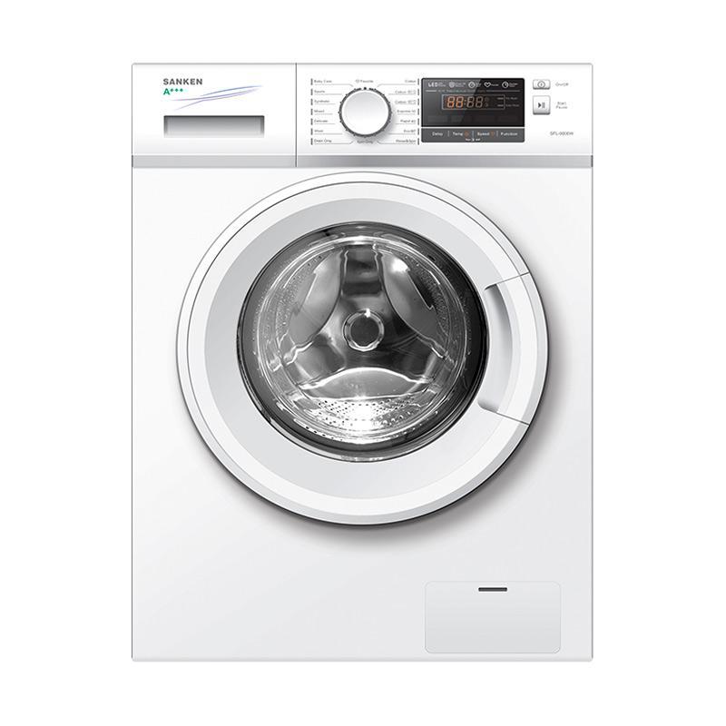 Sanken SFL-9000W Mesin cuci - Putih [Front Loading/8 Kg]