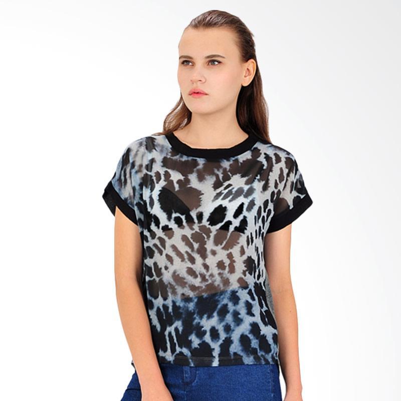 SJO & SIMPAPLY Leopard Sublime Women's T-Shirts - Black