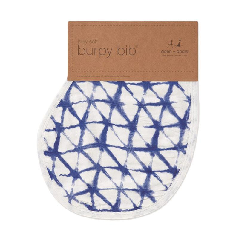 Aden Anais Single Silky Soft Burphy Bib Indigo Celemek Bayi