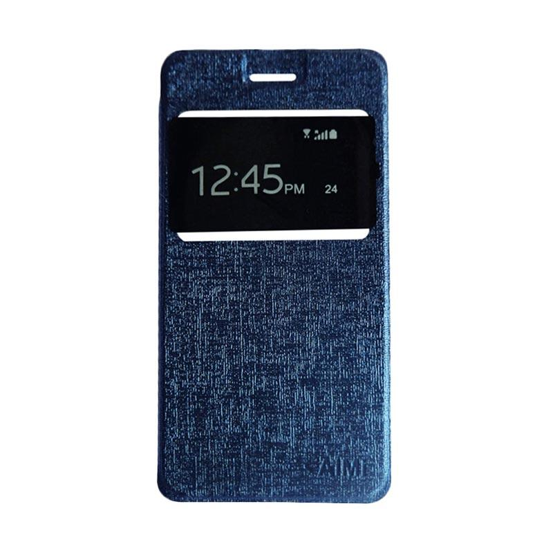 Aimi Flipshell Flip Cover Casing for Samsung Galaxy J7 Core Leather Case / Sarung Hp - Navy
