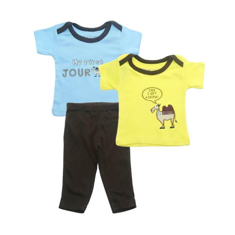 Bearhug Unta Set Pakaian Anak Laki-laki [3 pcs] - Kuning