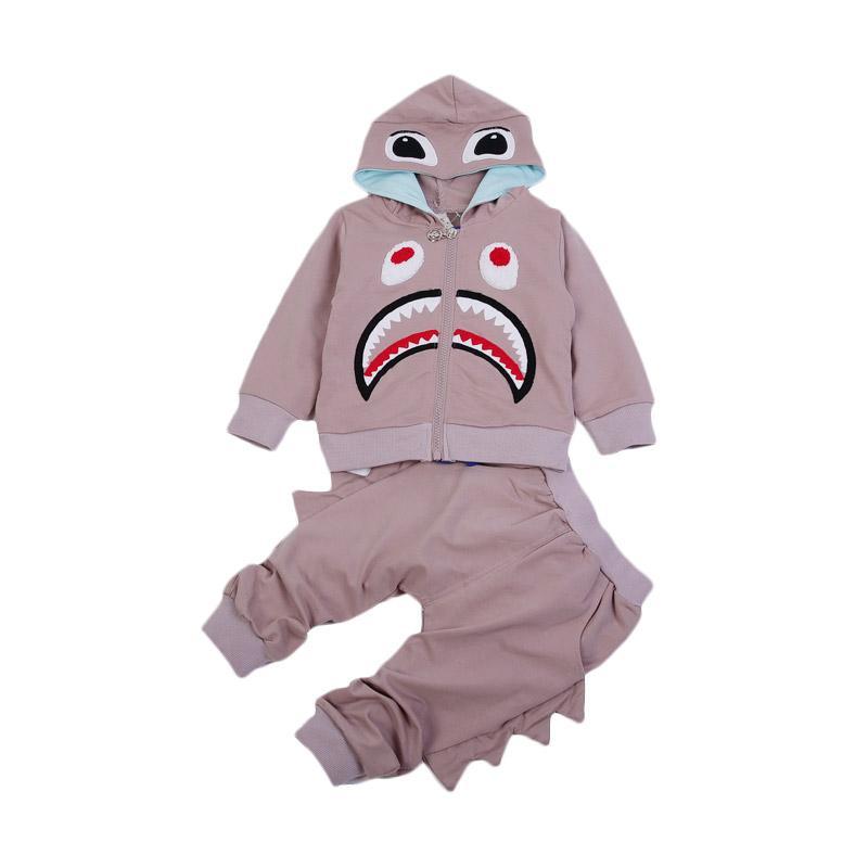 Chloe Babyshop F971 3 in 1 Hiu Set Baju Anak - Pink
