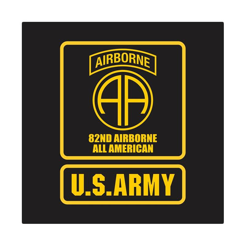 US Army 82nd Airborne All American Cutting Sticker