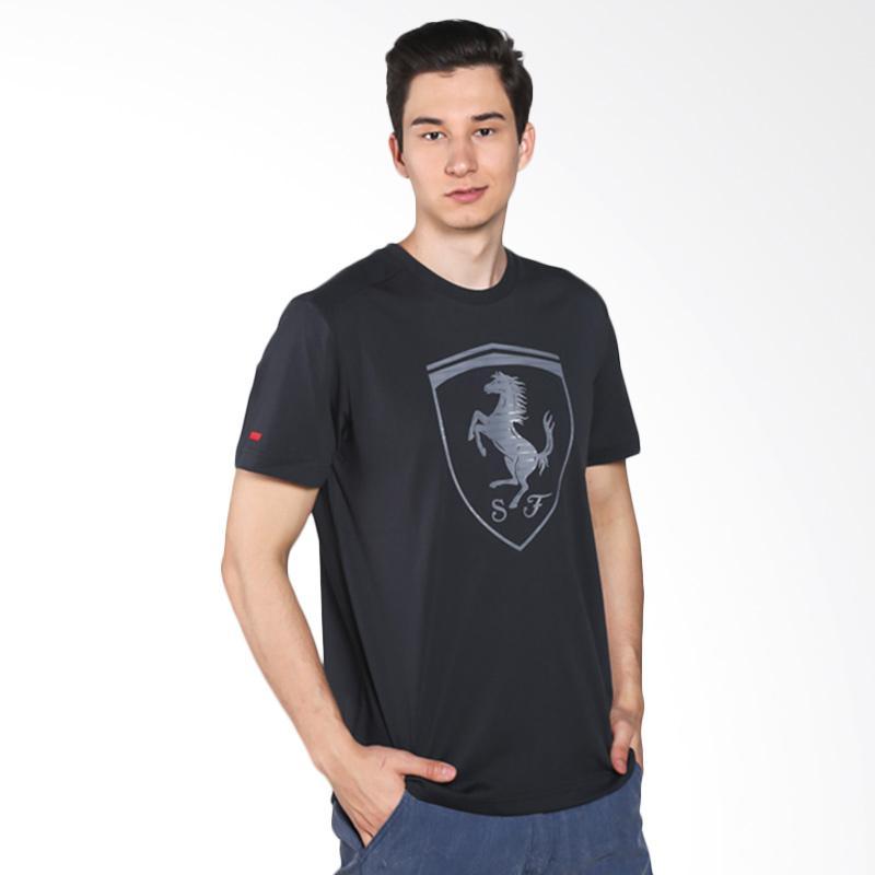harga PUMA Ferrari Big Shield Tee Kaos Olahraga Pria - Black 570681 01 Blibli.com