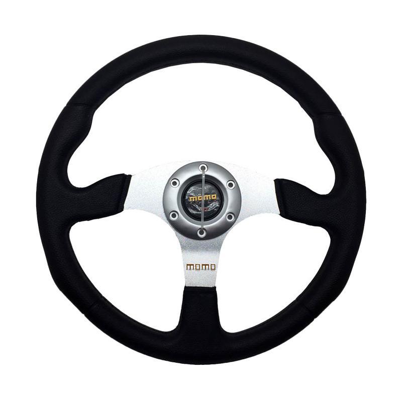 harga R4 Momo 28 MM Racing Setir Mobil Modifikasi - Silver [14 Inch] Blibli.com