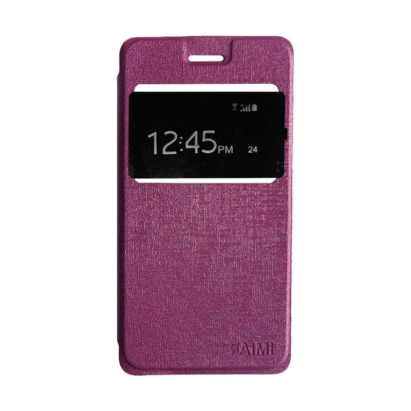 Aimi Flipshell Flip Cover Casing for Samsung Galaxy J7 Core Leather Case / Sarung Hp - Ungu