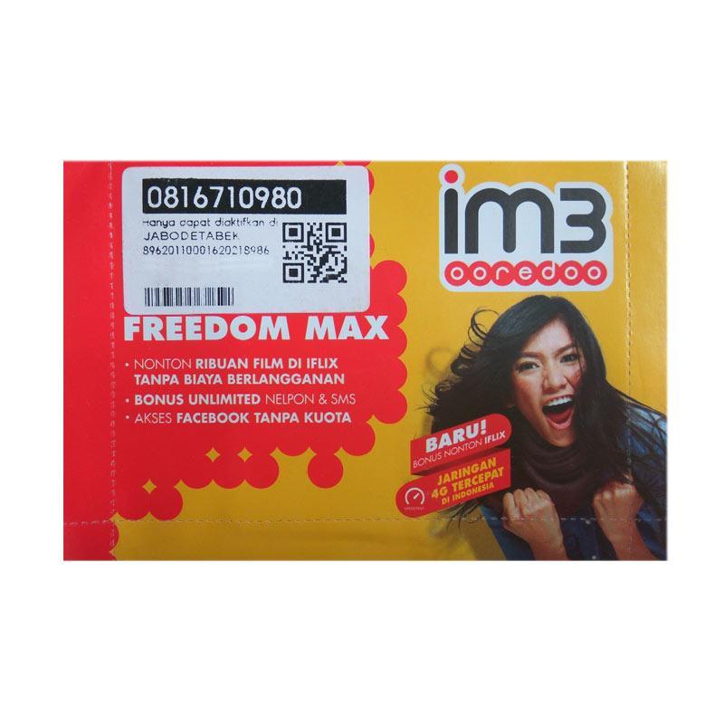 Indosat IM3 Nomor Cantik 0816 710 980 Kartu Perdana [4G LTE]