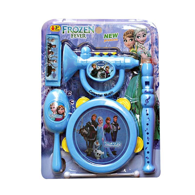 harga Momo Frozen Music 5in1 Mainan Alat Musik - Biru Blibli.com