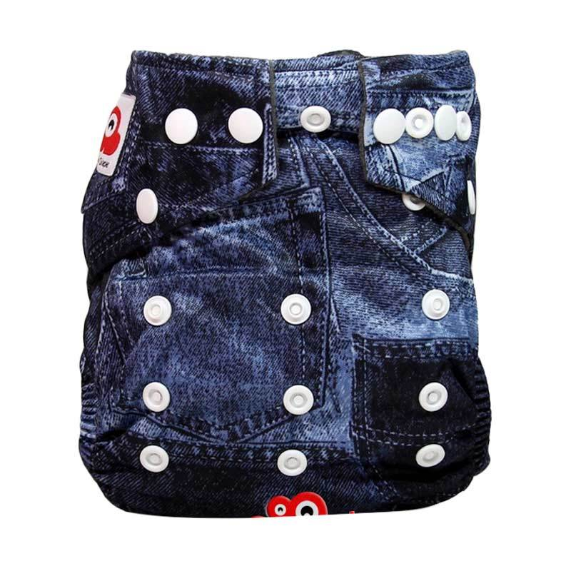 Clothcodile Charchoal - Bamboo Diaper + 2ins Jeans