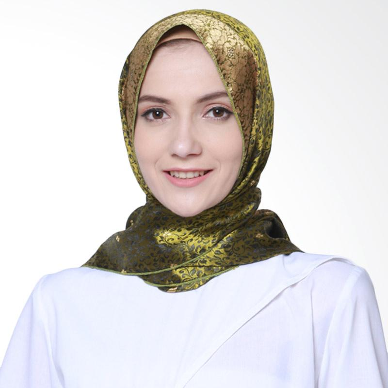 Delarosa Minakari Gold Design Hijab Pasmina - Green