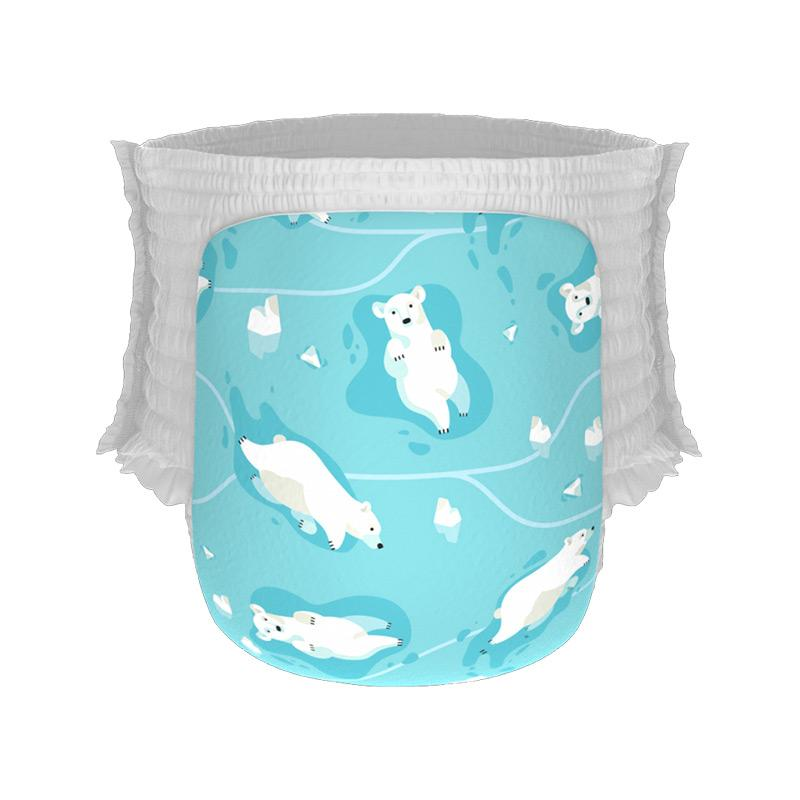Happy Diapers Winter Bears [Size M/ 30 pcs/ A17]