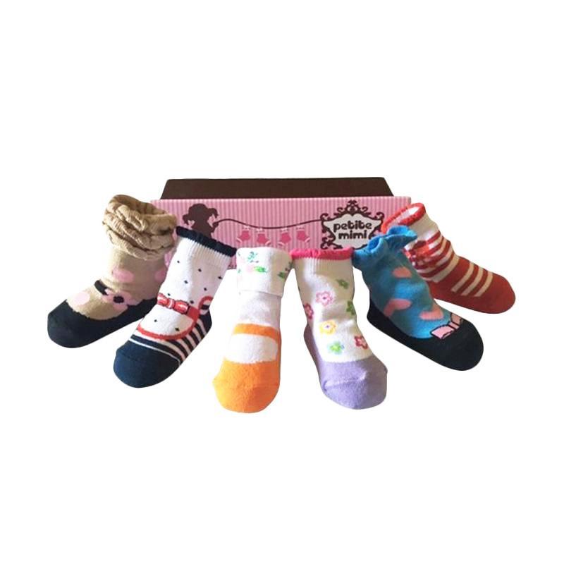 Petite Mimi Baby Sock Bella Kaos Kaki [Isi 6 Pcs]