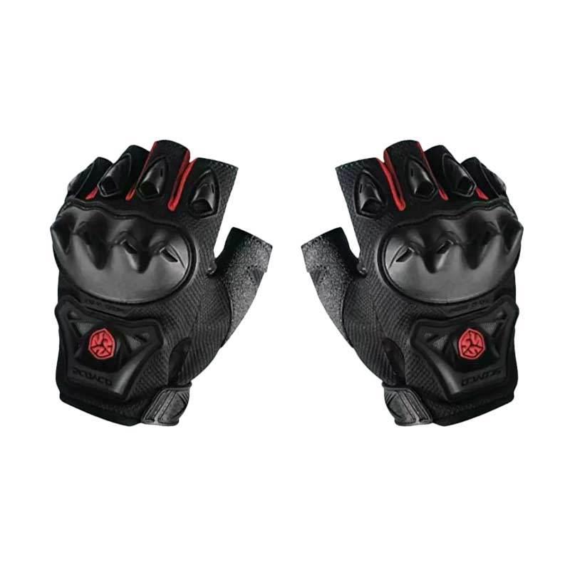 Scoyco MC29D Half Finger Sarung Tangan - Hitam Merah
