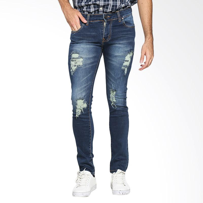 VM SBK03 Fashion Slim Soft Denim Jeans Celana Pria - Biru