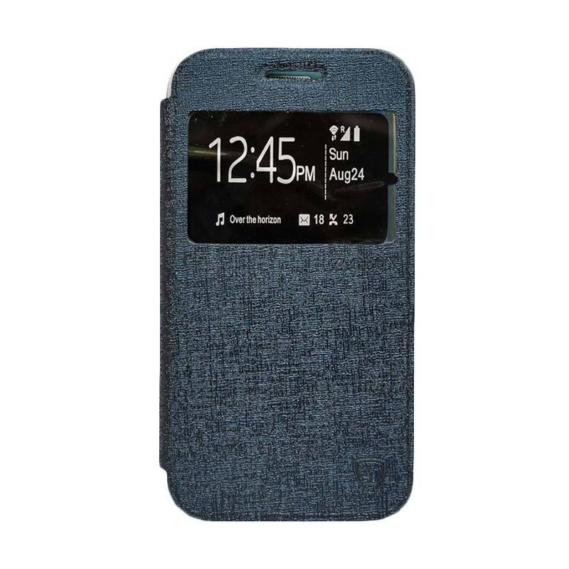Zagbox Flip Cover Casing for Lenovo K5 Plus - Biru Dongker