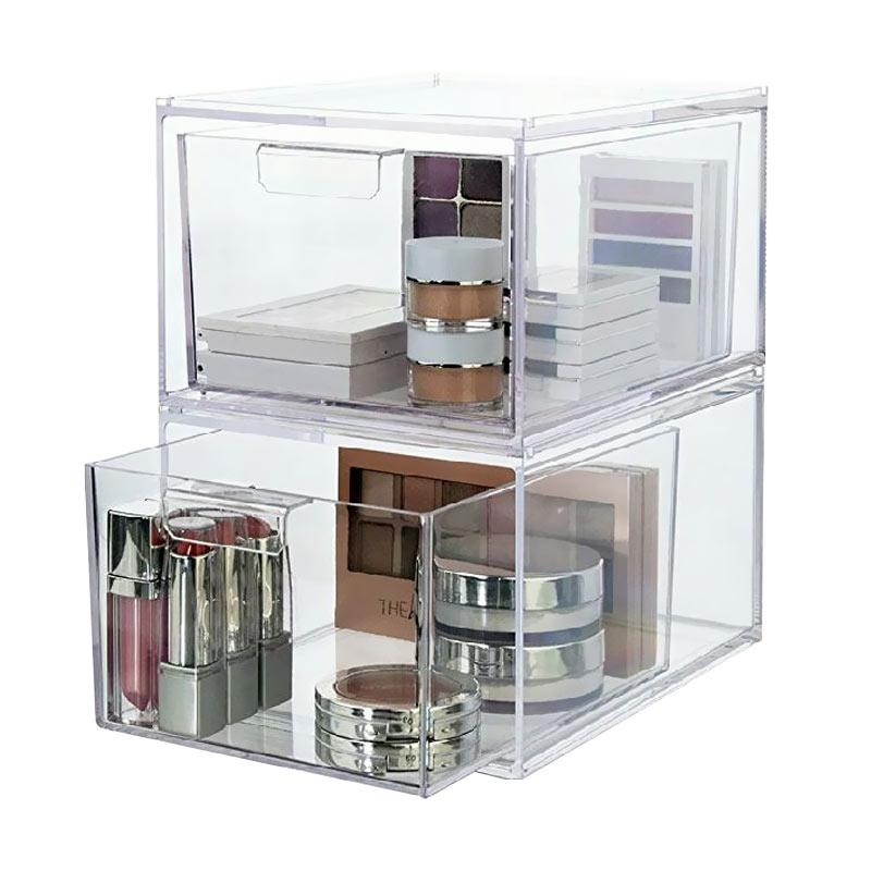 Acrylic Bok Kutek 2 Laci Make Up Organizer