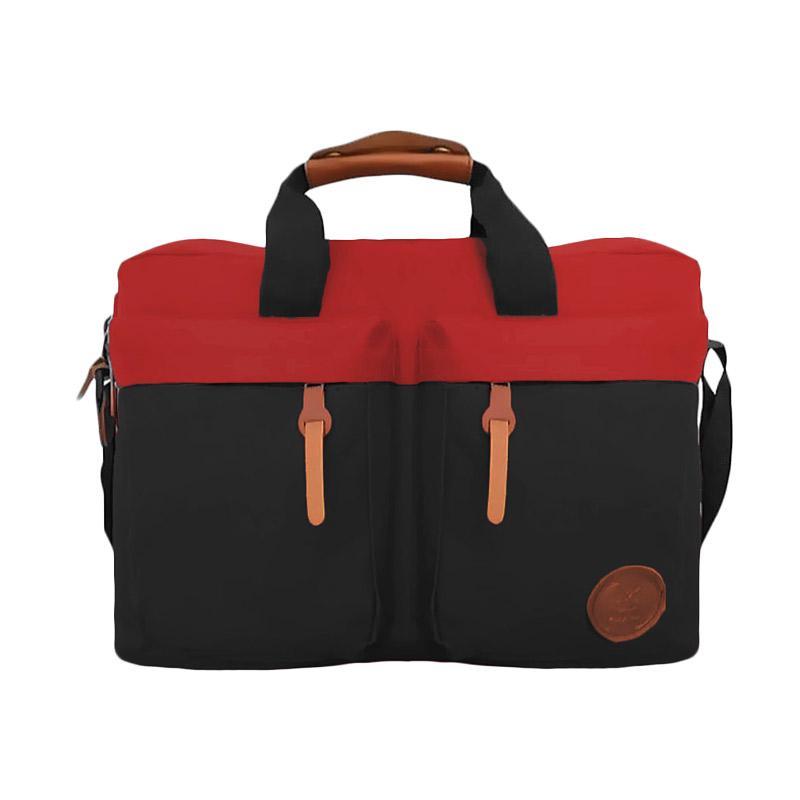 Bag & Stuff Embargo Combi Messenger Bag - Merah Hitam