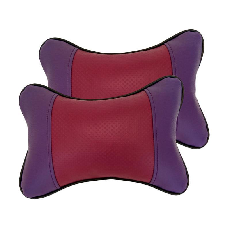 GL Motif Bintik Kulit Sintetik Bantal Mobil - Violet