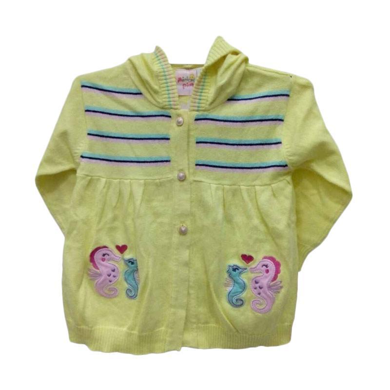 Mini Pink Jaket Bayi Perempuan - Yellow