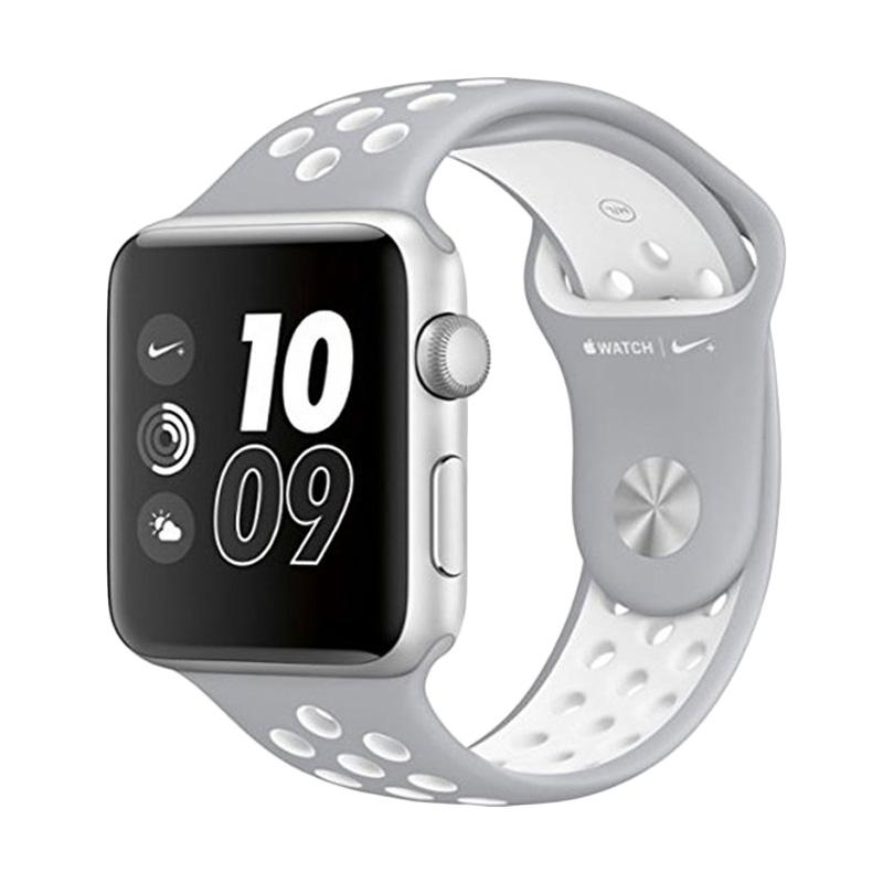 LOLLYPOP Strap Nike Sports Band for Apple Watch - Grey White [38 mm]