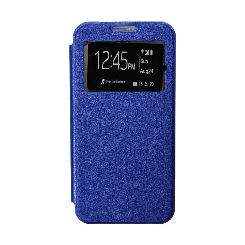 Smile Flip Cover Casing for Asus Zenfone Go 5 Inch ZB500KL - Biru Tua