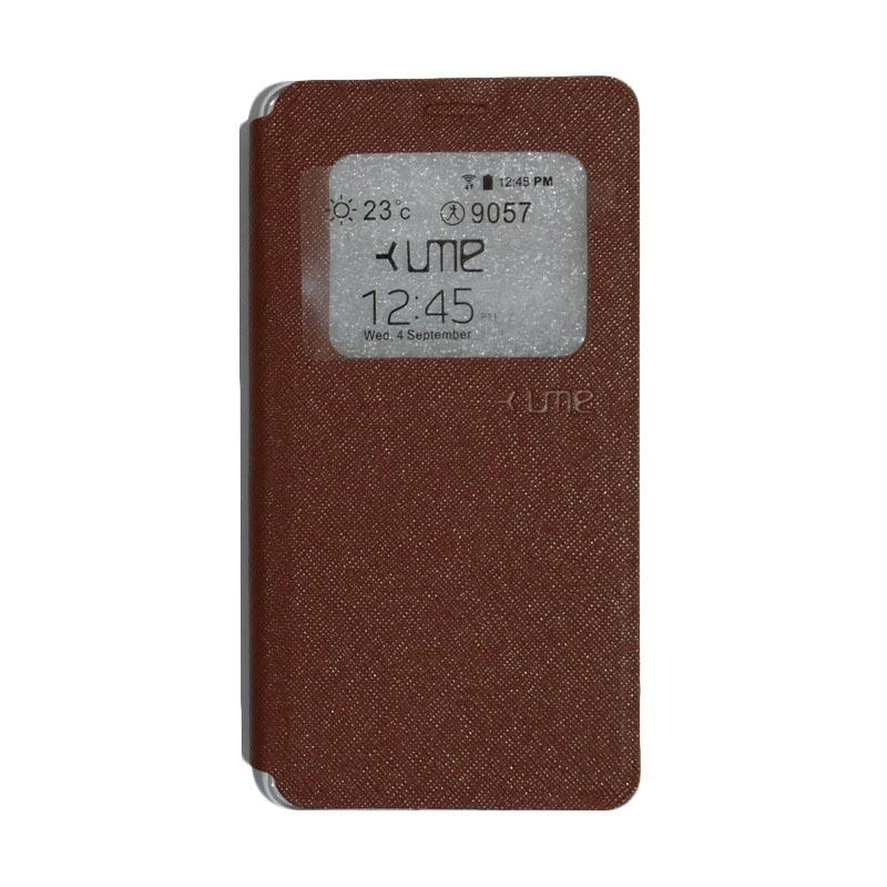 Ume Flipshell Flip Cover Casing for Vivo Y51 - Brown