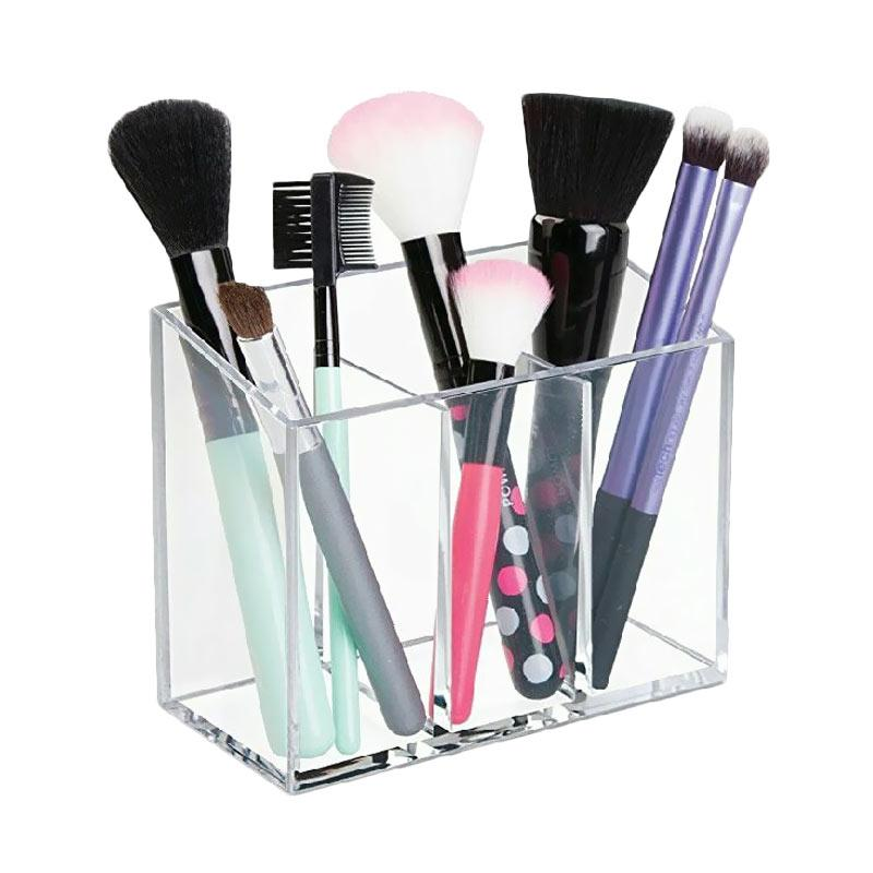Acrylic Makeup Brush Make Up Organizer tanpa tutup