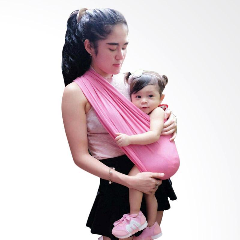 Geos BianS Gendongan Kaos Bayi - New Pink [Size L]