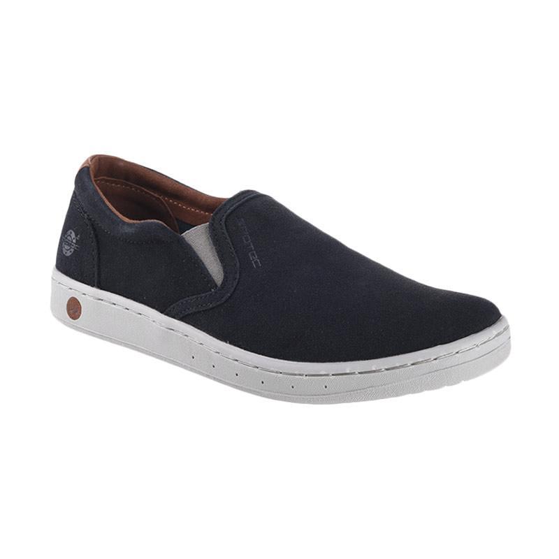 Spotec Futton Leather Sneaker Shoes - Black L.Grey [BLK 37]