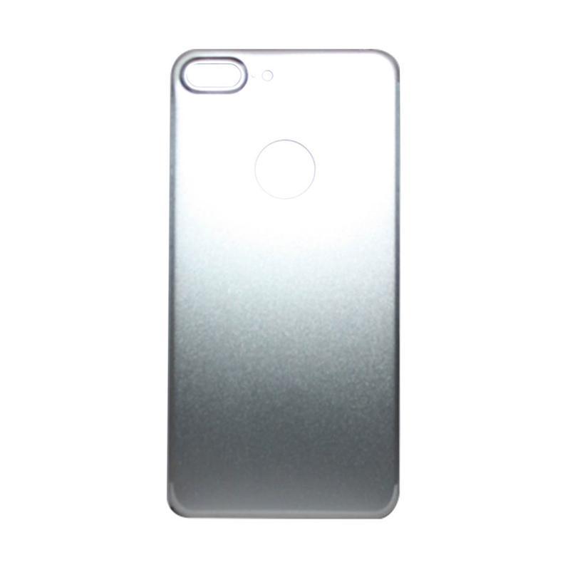 QCF Tempered Glass Aluminium Alloy Back Protector (Belakang Saja) for iPhone 7 Plus / Iphone 7Plus / Iphone 7+ 5.5 Inch Pelindung Belakang - Silver