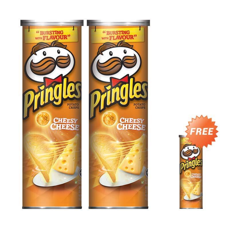 harga Buy 2 Get 1 - Pringles Cheesy Cheese Keripik [110 g] Blibli.com