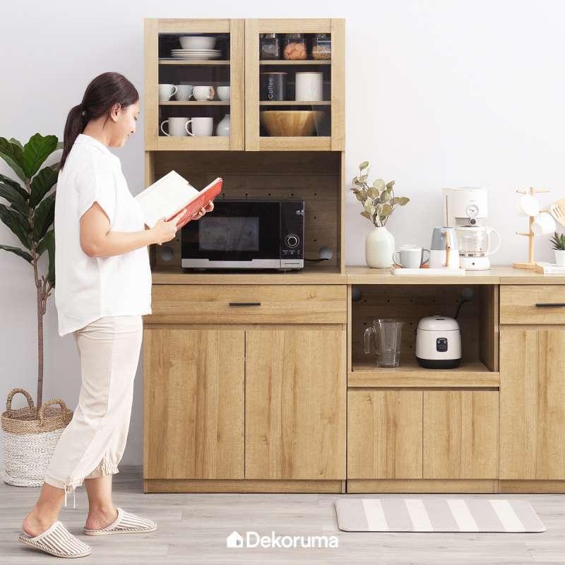 Jual Dekoruma Kiva High Kitchen Cupboard Lemari Kabinet Dapur Minimalis Pintu Kaca Online Februari 2021 Blibli