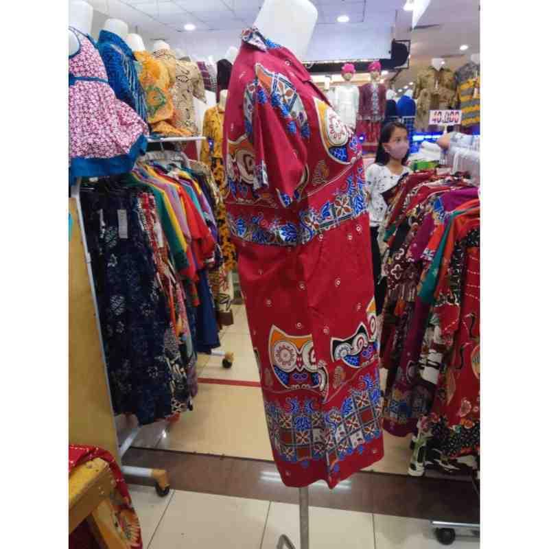 Jual Batik Dress Motif Burung Hantu Warna Merah Ungu Orange Bahan Stretch Online Desember 2020 Blibli