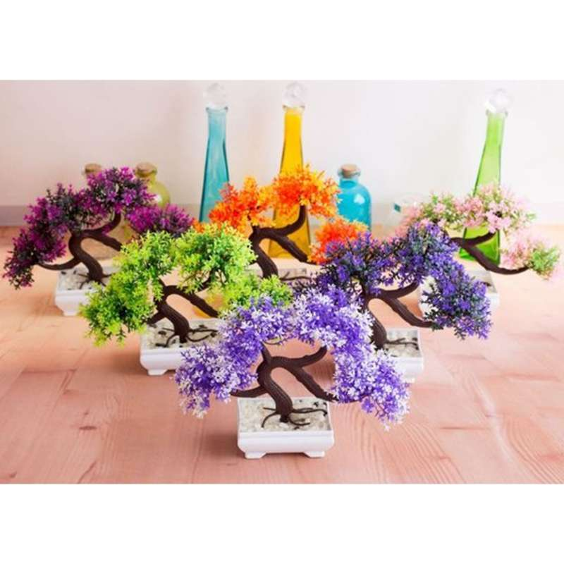 Jual Tanaman Pohon Bonsai Artificial Flower Decoration Pot Bunga Hias Dekorasi Meja Bunga 03 Online November 2020 Blibli Com