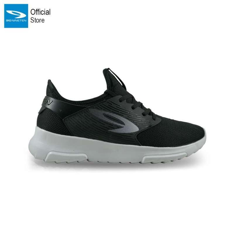 Nineten 910 Kiva Sepatu Running - Hitam Putih
