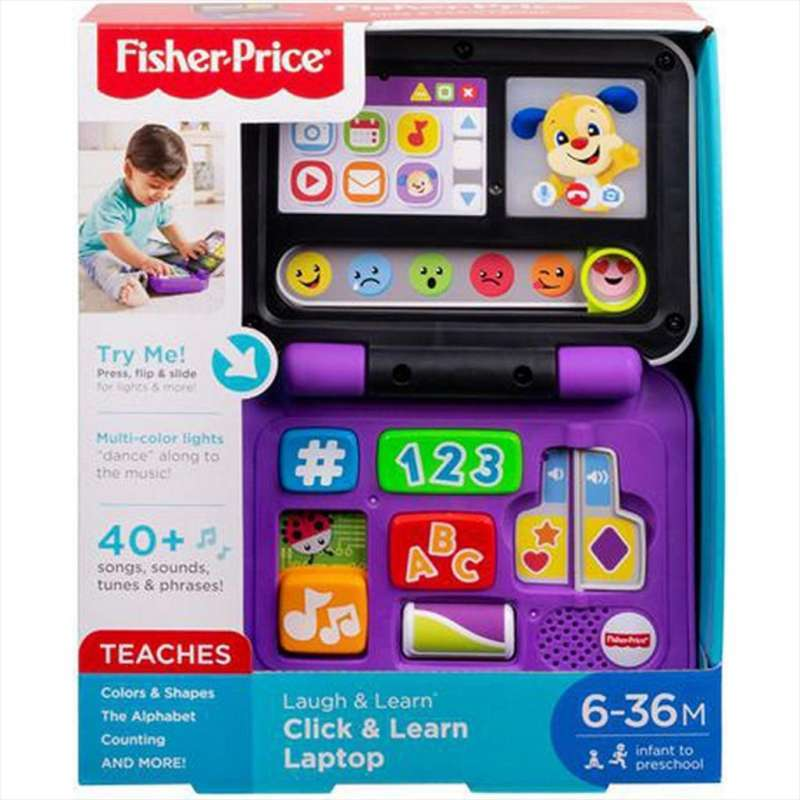 Fisher Price FNT20 Laugh Learn Click and Learn Laptop