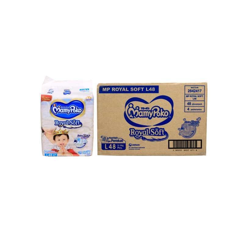 Jual Gosend Grab 1 Karton Mamy Poko Royal Perekat Soft Pants Tape L48 Online Maret 2021 Blibli