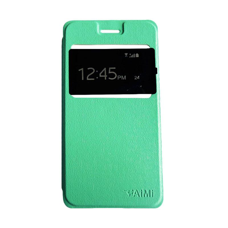 Aimi Flipshell Flip Cover Casing for Samsung Galaxy J7 Core Leather Case / Sarung Hp - Tosca