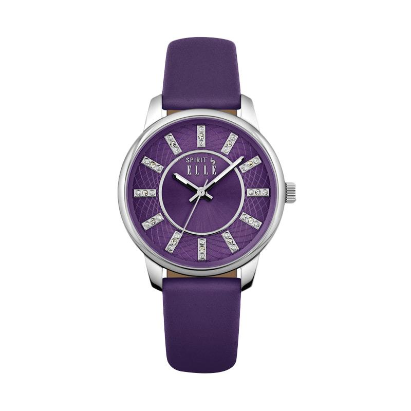 Elle Spirit ES20094S02X Leather Strap Watches - Violet