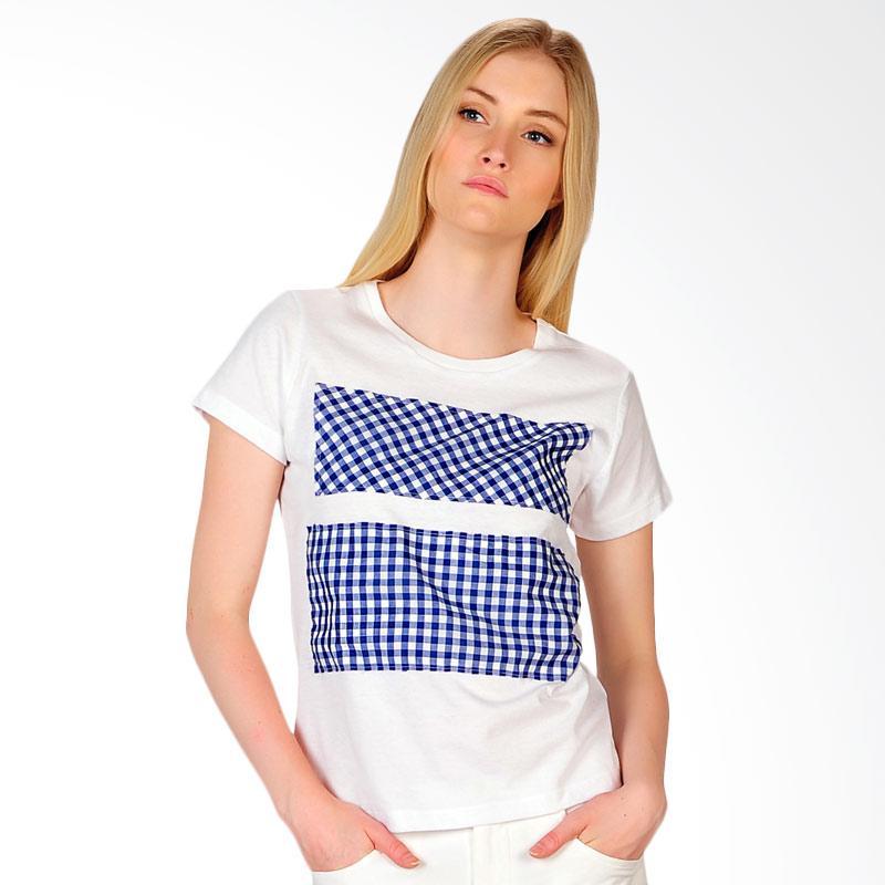 SJO & SIMPAPLY Roundneck Combo Women's T-Shirt Wanita - White