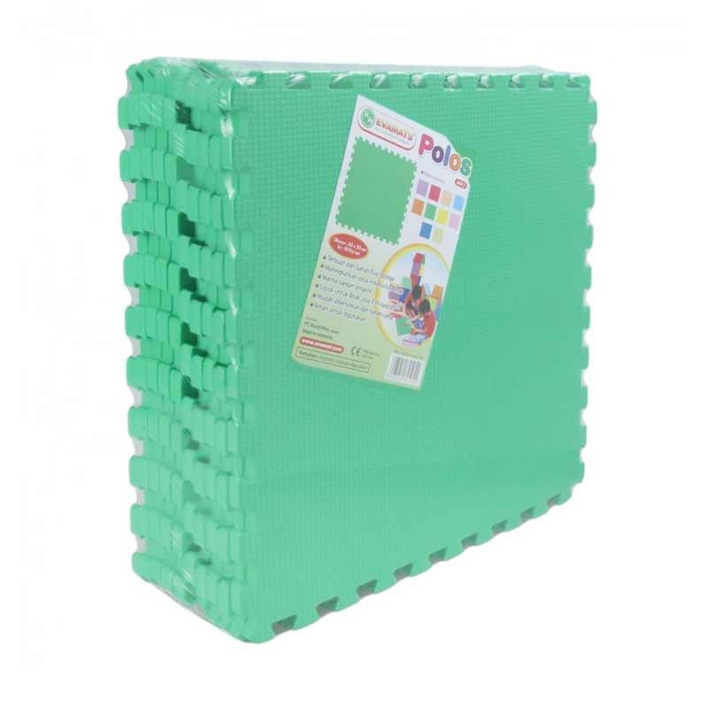 Evamat Puzzle Polos Alas Lantai - Dark Green [30 x 30 cm]