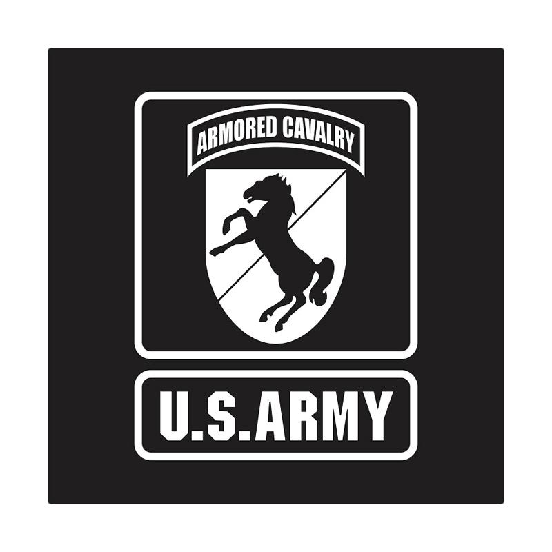 US Army 11th Armored Cavalry Badge Cutting Sticker
