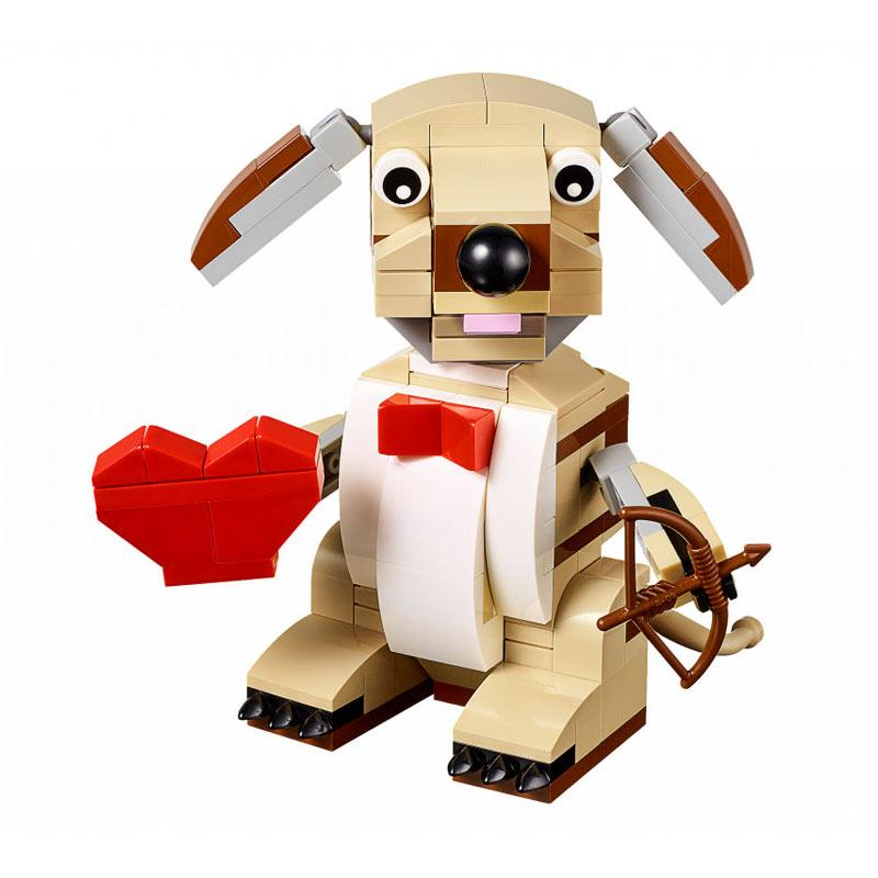 Lego 40201 Valentine's Cupid Dog Set Mainan Blok & Puzzle
