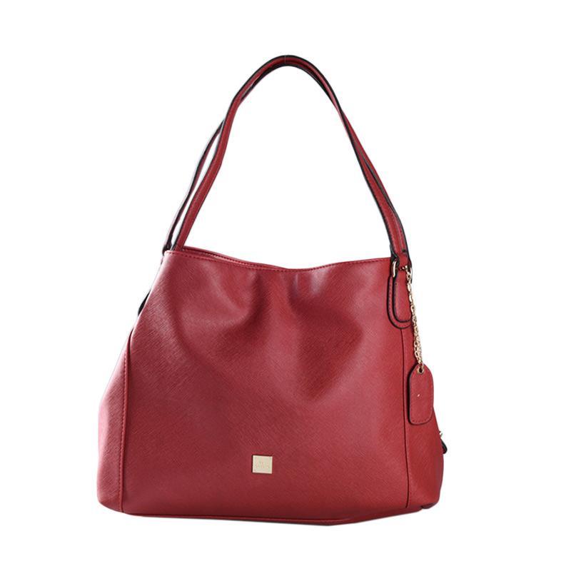 Les Catino Cobela Hobo Shoulder Bags - Red Garnet