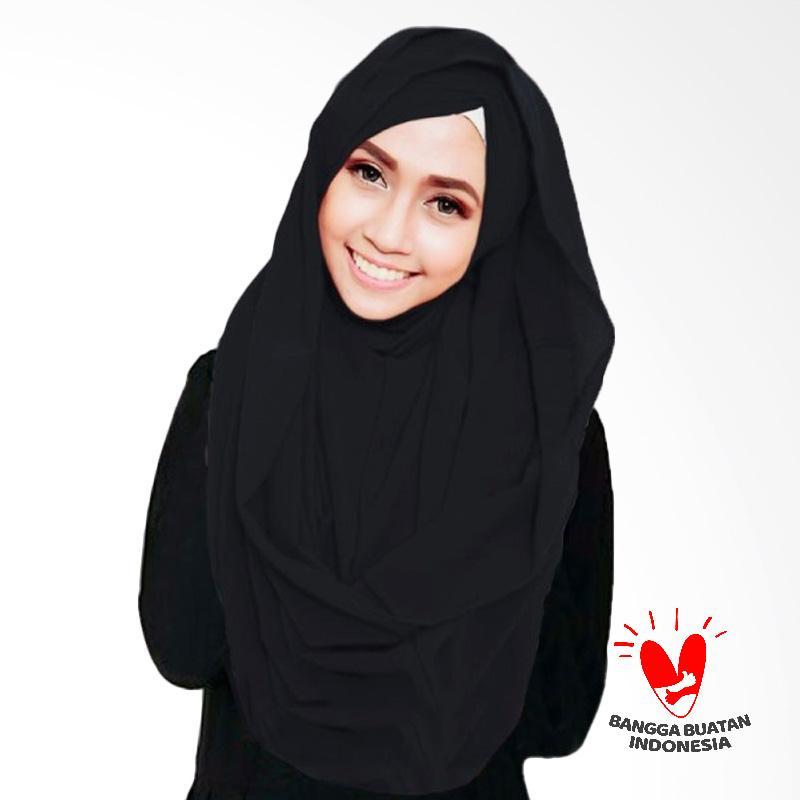 Milyarda Hijab Shiren Kerut Jilbab Instant - Black